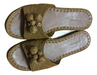 Carrie Forbes Brown Leather Flats