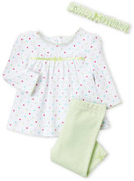 Little Me Newborn/Infant Girls) 3-Piece Leggings Set
