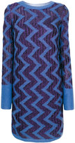 Missoni contrast zigzag pattern dress