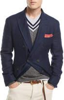 Brunello Cucinelli Traditional Hopsack Sport Jacket