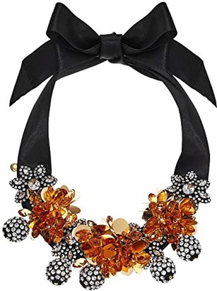 J.Crew Tillite Embroidered Necklace (Crystal) Necklace