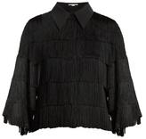 Stella McCartney Fringed georgette shirt
