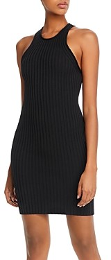 Alexander Wang Ribbed Shrunken Mini Dress