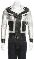 DSQUARED2 Metallic Leather Moto Jacket