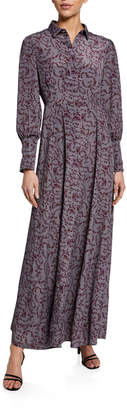Glamorous Floral-Print Maxi Shirtdress