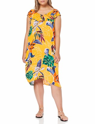 Dorothy Perkins Women's Ruffle ON Shoulder Bardot Dress Tropical Party