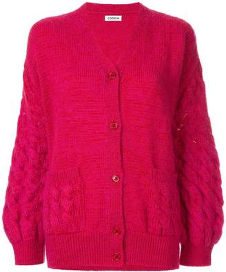 Coohem mohair cable knit cardigan