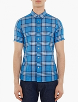 Raf Simons Blue Check Short-sleeved Shirt