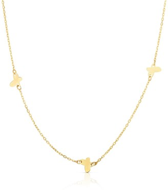 Sphera Milano 14K Yellow Gold Butterfly Station Necklace