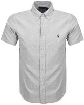 Ralph Lauren Short Sleeved Oxford Shirt Grey