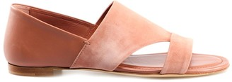 Tod's Suede Open Toe Flat Sandals