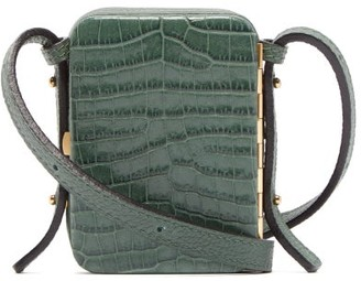 Lutz Morris - Norman Contrast Panel Leather Cross Body Bag - Womens - Green