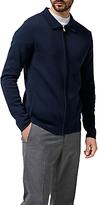 Selected Homme Jakob Full Zip Knitted Jacket, Dark Sapphire