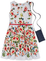 Knitworks Knit Works Floral Belted Dress - Girls' 7-16