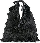 MM6 MAISON MARGIELA oversize fringe shoulder bag