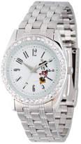 Disney Princess Disney Minnie Mouse Womens Silver Tone Bracelet Watch-Wds000383