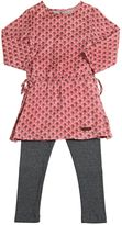 Sticky-Fudge Cotton Drill Dress & Knitted Leggings