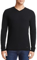 Armani Collezioni Textured V-Neck Sweater