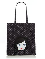 Lulu Guinness Lulu doll face foldaway shopper bag