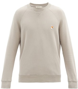 MAISON KITSUNÉ Fox-head Patch Cotton Sweatshirt - Grey