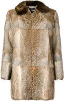A.P.C. zip up fur coat