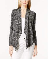 Eileen Fisher Organic Cotton/Silk Blend Long-Sleeve Angled Cardigan