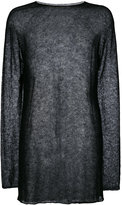Rick Owens sheer longline top - men - Polyamide/Alpaca - One Size