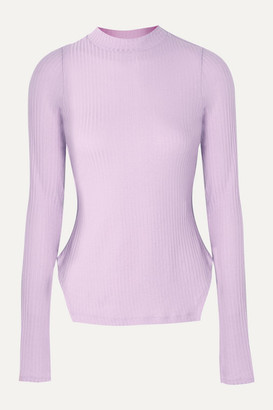 REJINA PYO Net Sustain Candice Ribbed Tencel-blend Jersey Top - Lilac