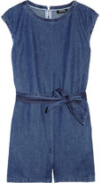 Washed-denim playsuit
