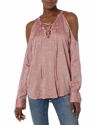 William Rast Women's Cyrus Lace-up Top