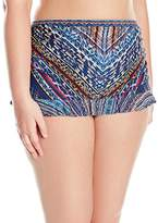 Jessica Simpson Plus Size Printed Skirted Bikini Bottoms