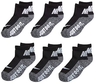 Nike Kids Just Do It Cushioned Ankle Socks 6-Pack (Toddler/Little Kids/Big Kids) (Pink/White) Kids Shoes