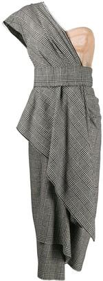 Dolce & Gabbana bustier-panel houndstooth draped dress
