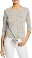 Cupcakes And Cashmere Mariel Tie-Front Tee