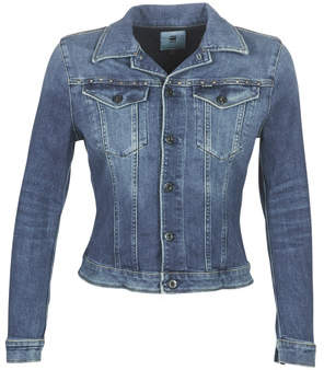 G Star Raw 3301 STUDS SLIM JACKET women's Denim jacket in Blue