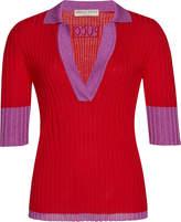 Emilio Pucci Rib Knit Polo Top