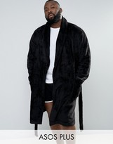 Asos PLUS Fleece Shawl Robe