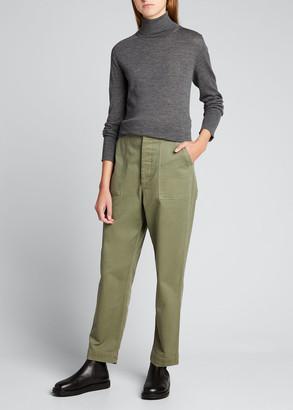 Officine Generale Ninon Seamless Wool/Silk Turtleneck Sweater