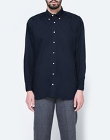 Gitman Brothers Oversized Navy Poplin Shirt