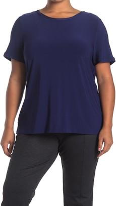 Anne Klein Solid Button Back T-Shirt