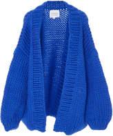 I Love Mr. Mittens Blue Wool Cardigan