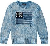 Ralph Lauren 2-7 Flag Indigo Cotton Sweater