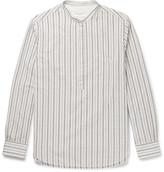 Officine Generale Auguste Grandad-Collar Cotton-Jacquard Shirt