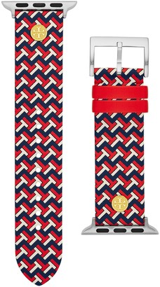 Tory Burch T-ZAG BAND FOR APPLE WATCH, MULTICOLOR LEATHER, 38 MM 40 MM