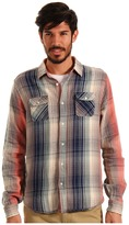 Scotch & Soda Lightweight Summer Flannel (Navy/Coral/White) - Apparel