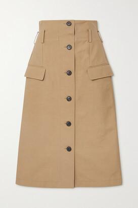 VICTORIA BECKHAM - Cotton-blend Skirt - Brown