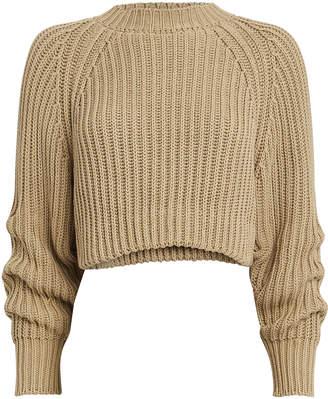 Esteban Cortazar Cable Knit Cropped Sweater