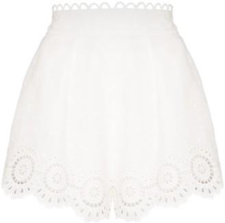 Zimmermann Bellitude scalloped shorts