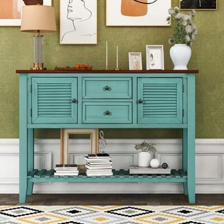 """Longshore Tides Turnbull 46"""" Console Table Table Top Color: White, Table Base Color: White"""
