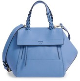 Tory Burch 'Mini Half-Moon' Leather Satchel - Blue
